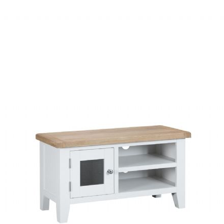 Toulouse White Small TV Unit
